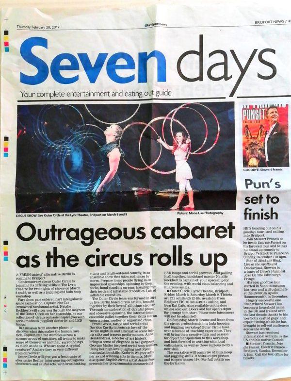 outer circle kathrin wagner presse press cabaret show hula hoop